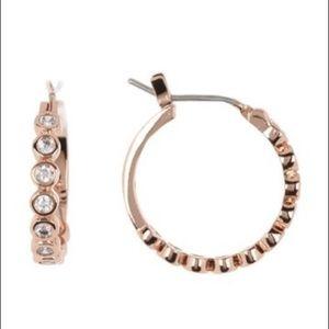 kate spade ♠️ New York bezel huggie hoop earrings